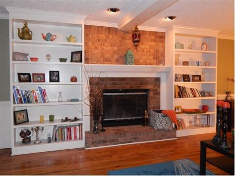 Images Of Built In Bookcases Custom Bookshelves Flanking A Fireplace By Atlanta