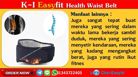 Saraf Terjepit Easyfit Waist Belt wa 081343722403 jual alat terapi tulang belakang k link di jakarta