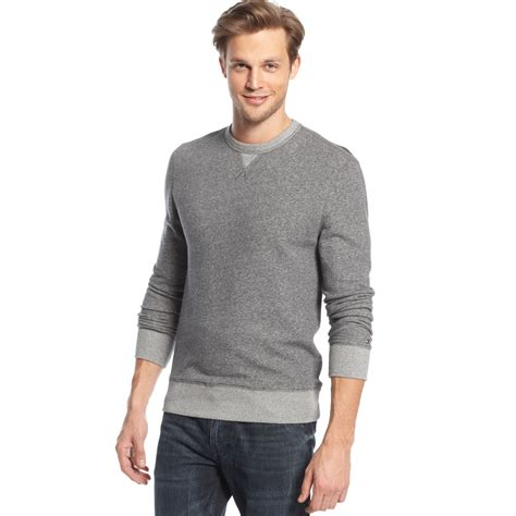 Hilfiger Crewneck hilfiger crewneck sweater in gray for gray lyst
