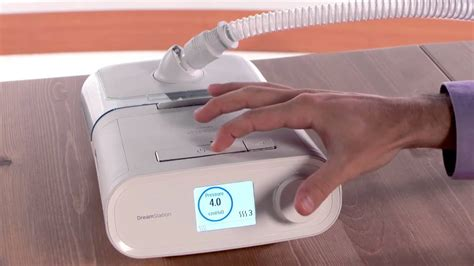 how to set up philips dreamstation cpap bipap machine humidification options