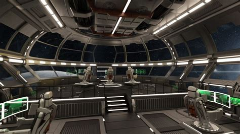 Futuristic Interior Design Starship Command Center 3d Models And 3d Software By Daz