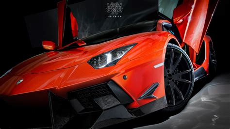 Open Lamborghini Lamborghini Aventador Open Doors Hd Wallpaper