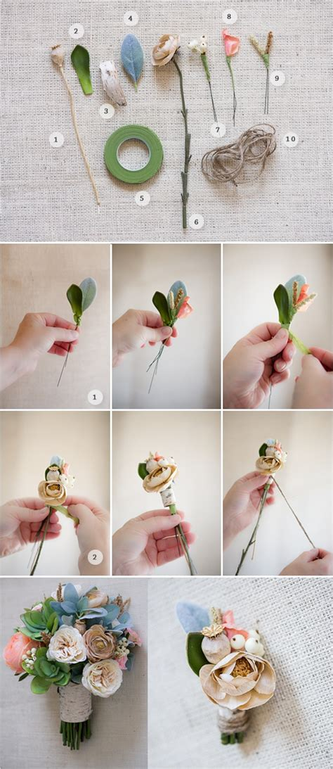 How To Make Artificial Flowers With Paper - 20 of the prettiest boutonnieres chic vintage brides