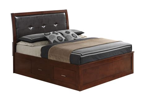 upholstered storage bed king glory furniture g1200 king upholstered storage bed in