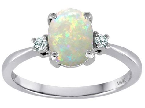 tommaso design genuine oval opal and 3