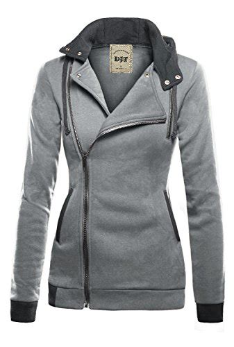 Sleeve Hoodie Abu Cloth djt womens oblique zipper slim fit hoodie jacket apparel