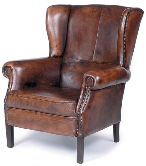 wingback leather armchair traditional wing back leather chair w nailhead trim wood