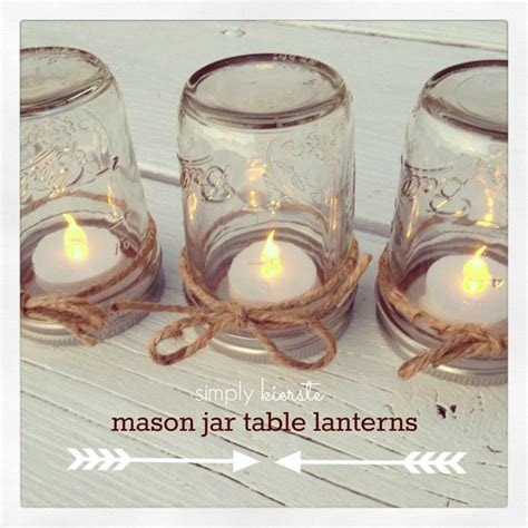 mason jar table lanterns decotaion for romantic valentine