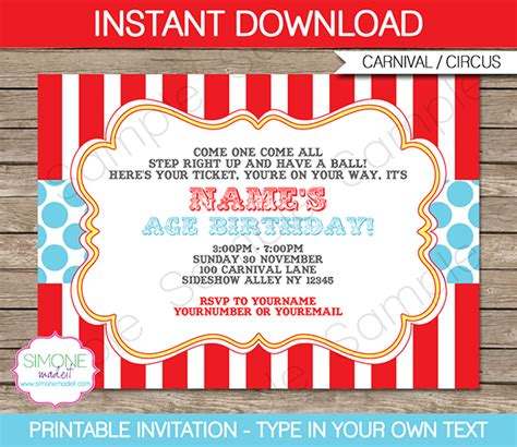 circus ticket template free circus invitation template aqua circus invitations