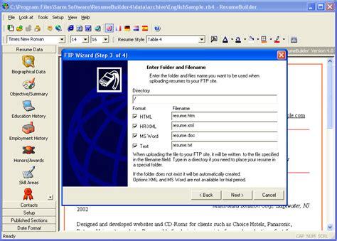 Resume Builder Exe Resume Builder V4 3 Cv