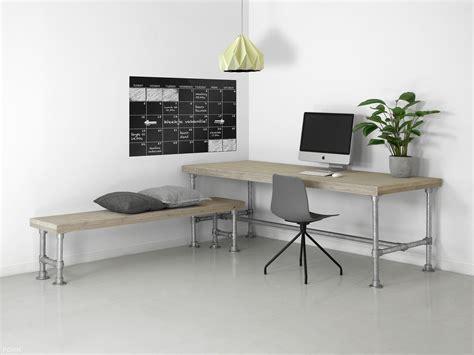 bureau of met steigerhouten tafel met steigerbuis onderstel f 216 rn