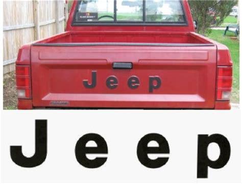Jeep Comanche Tailgate 86 92 Jeep Mj Comanche Up Tailgate Decal Sticker