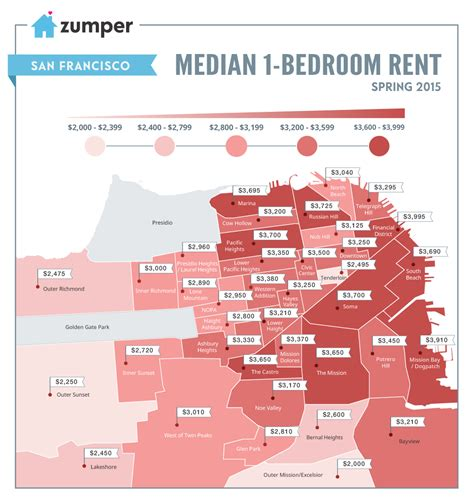san jose rent map san francisco rent prices continue increase into june