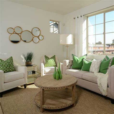 Neutral Green Living Room by Photo Page Hgtv