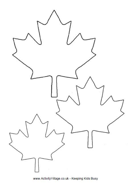 maple leaf printable template maple leaf template