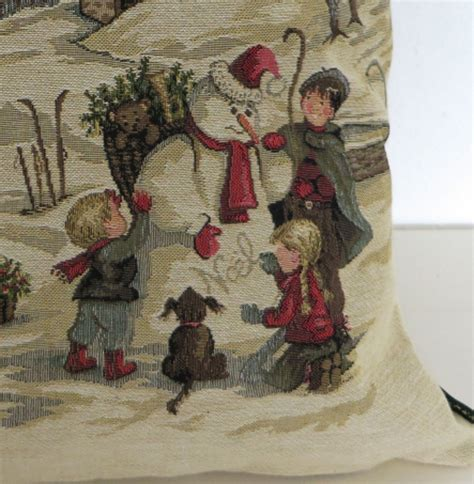 kissenbezug winter zierkissen winter kinder schneemann kissenbezug