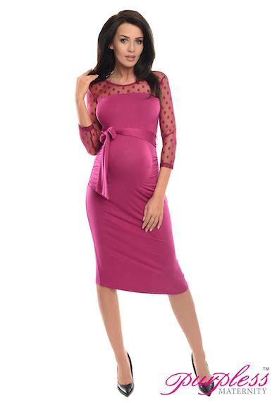 Dress Branded Style Co Ld 90cm Soft Polka Midi Dress Spandek Branded purpless maternity ruched bodycon pregnancy dress with with polka dot lace d008 ebay