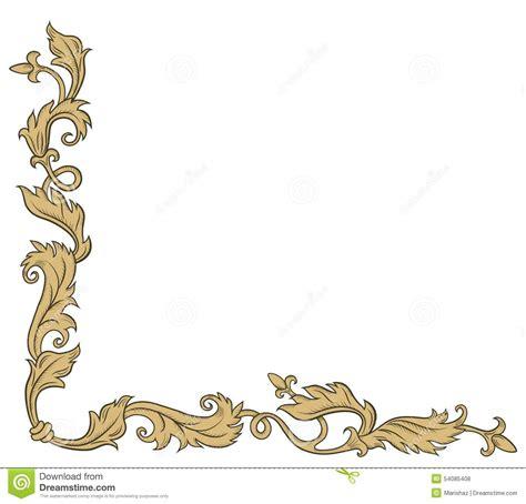 Decorative Corner by Decorative Corner Ornament Stock Vector Image 54085408