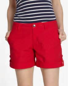 womens red shorts the else