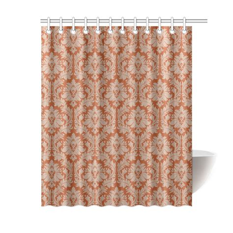 Autumn Colored Curtains Autumn Fall Colors Beige Damask Shower Curtain 60 Quot X72 Quot Id D567751