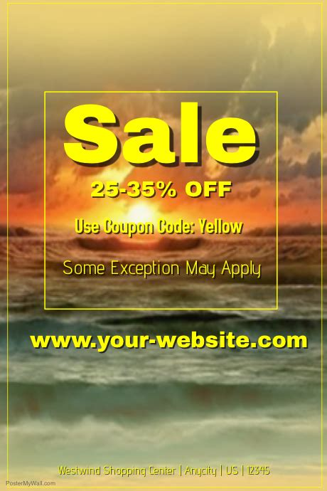 sale event template postermywall