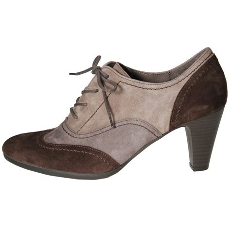 lace up shoes gabor shoes cher lace up trouser shoe in brown