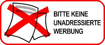 Aufkleber Keine Werbung Und Gratiszeitungen by Praktische Aufkleber Quot Bitte Keine Werbung Quot Ratzfatz