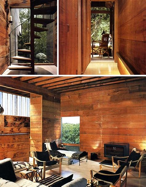 literal treehouse modern all wooden home in the forest