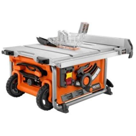 Ridgid Portable Table Saw by New Ridgid R45161 Compact Portable Table Saw 10 Quot Blade