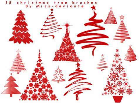 christmas tree holidays photoshop brushes brushlovers com