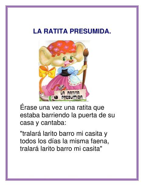la ratita presumida cuentos infantiles calam 233 o la ratita presumida