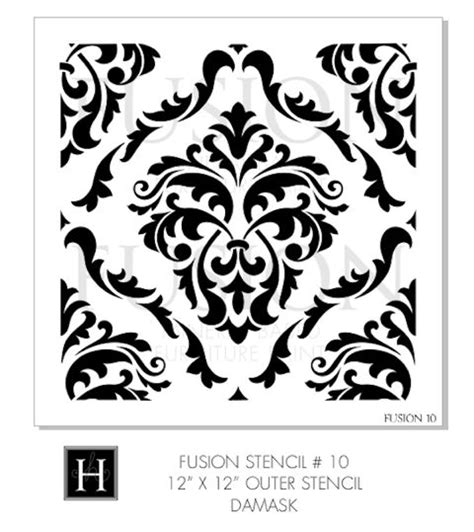 fusion stencil damask love the corner details
