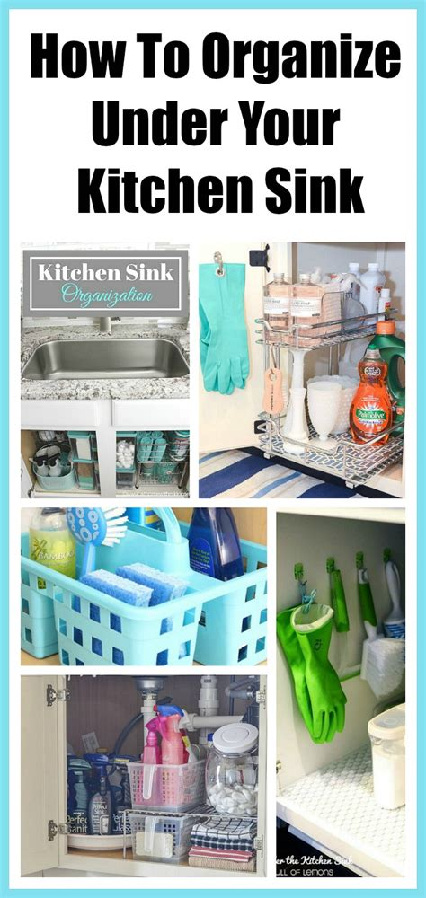 kitchen organize ideas how to organize the kitchen sink