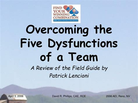 no left a 5 step guide to overcoming obstacles and achieving your goals books ppt overcoming the five dysfunctions of a team