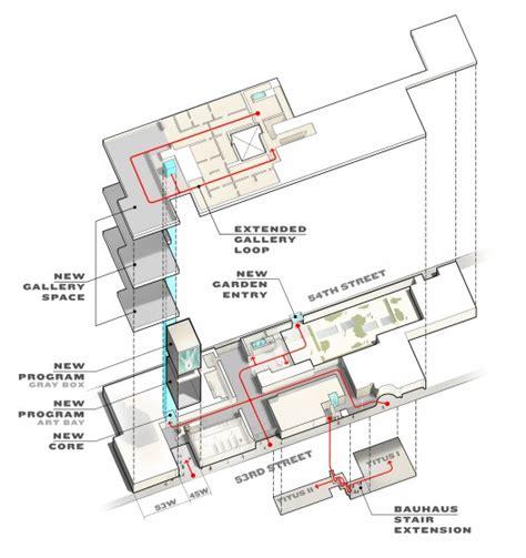 moma floor plan ampliaci 243 n del moma de new york escenarq architects