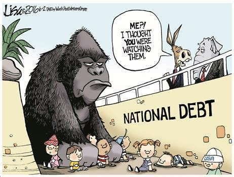 credit card debt economic cartoons 2016 lisa benson political cartoons political humor jokes