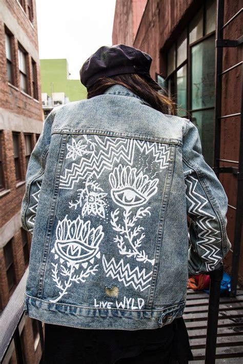 jacket hand design eye see you hand painted denim jacket denim jackets