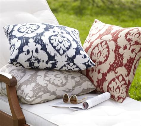 Pottery Barn Outdoor Pillow by Sunbrella 174 Devin Ikat Indoor Outdoor Pillow Pottery Barn