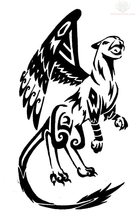 griffin tribal tattoo black griffin tribal design tatuajes