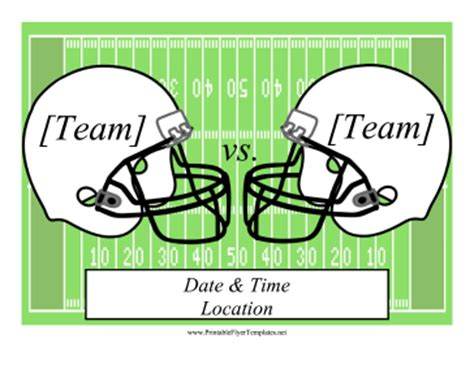Football Flyer Free Football Program Templates