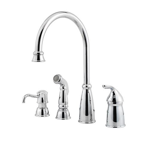 pfister gt26 4cbc avalon single handle kitchen faucet with