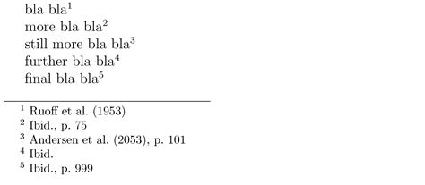 footnote format same source citing in apa style with year in brackets tex latex