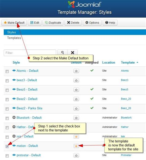 template joomla default how to install a joomla template