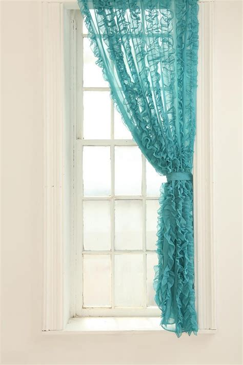 Aqua Color Curtains Designs Lovely Turquoise Curtain Panel The Color Turquise Pinterest