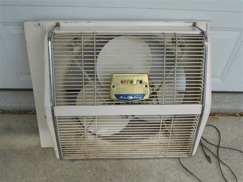 air king window fan vintage 1963 berns air king revers air 20 inch 3 speed