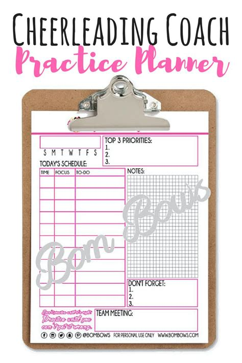 36 Best Cheer Printables Images On Pinterest Cheer Coaches Cheer Stuff And Attendance Sheet Cheerleading Attendance Sheet Template