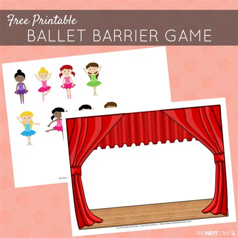 printable barrier games free printable ballet barrier game for speech therapy