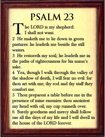 printable version 23rd psalm part one psalm 23 he leads me beside still waters