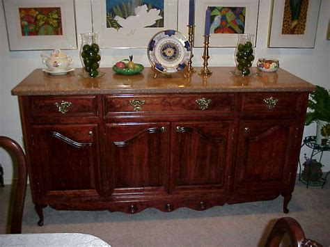 cherry buffet table antique set