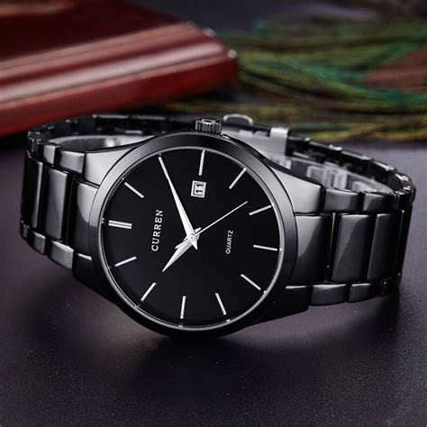 Jam Tangan Curren Quartz curren jam tangan analog pria mk4 black